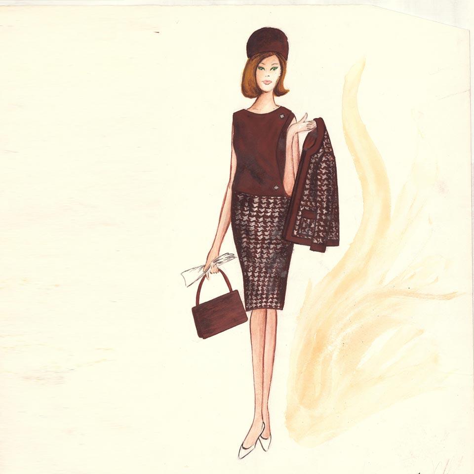 La storia della Boutique Abbracciavento attraverso disegni di moda
